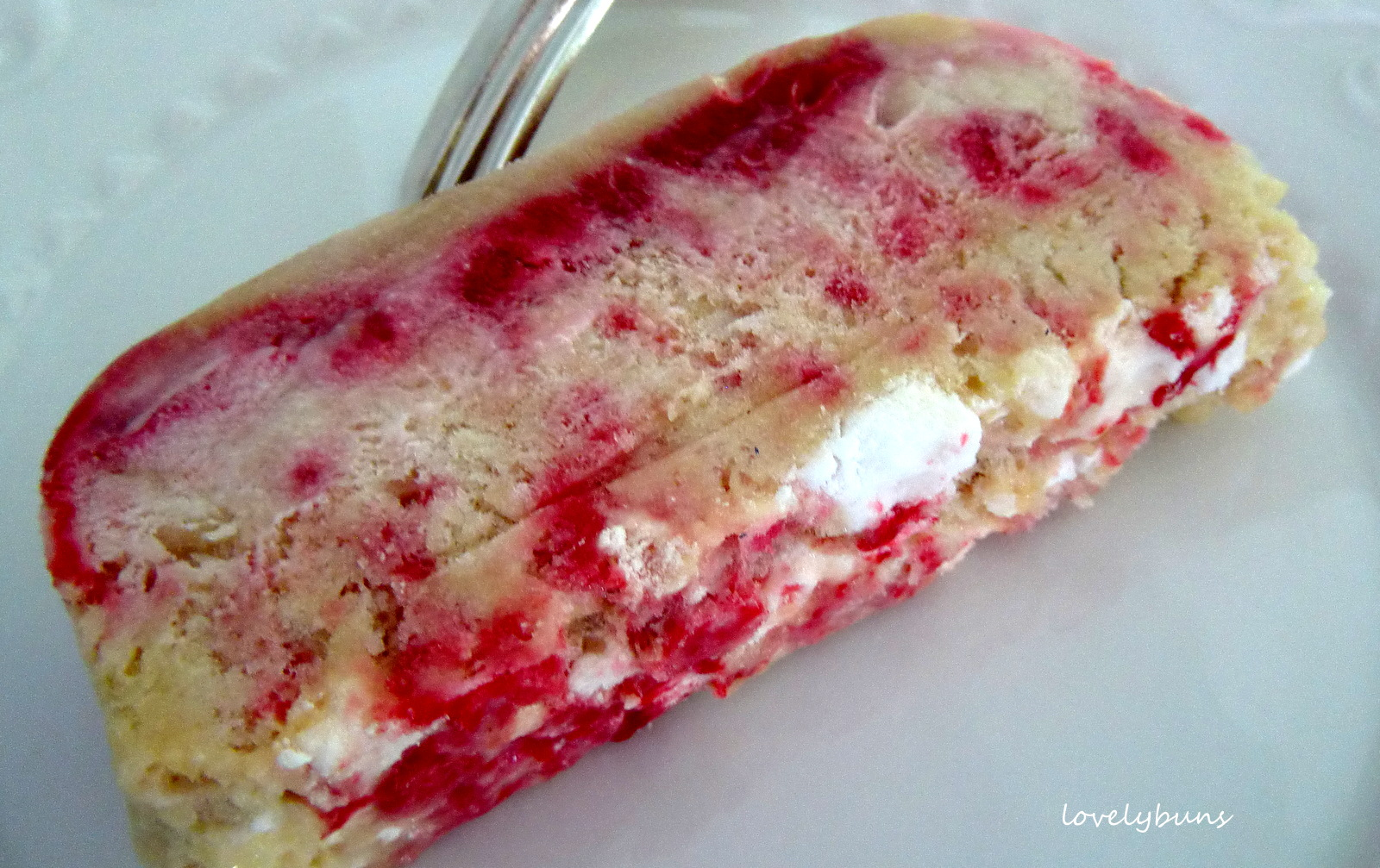 raspberry ripple meringue ice-cream cake~ | ~~~ lovely buns ~~~